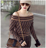 Designer Women Sweater Tops 2018 Autumn Winter Luxury Knitting Shirts O-neck NEW