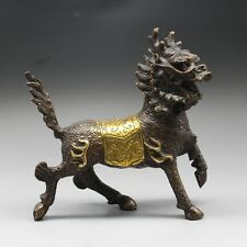 exquisite Vintage Chinese handcraft Bronze statue ---  Kirin statue