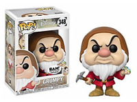 Grumpy + Diamond Pick Snow White Funko Pop Vinyl New in Mint Box + sticker + P/P
