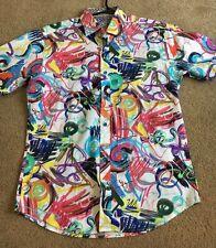 Bugatchi mens colorful shirt nwt M shaped