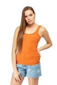 Ladies Summer 100% Cotton Vest Slim Fit Plain T-Shirt Women's Tank Tops S-L