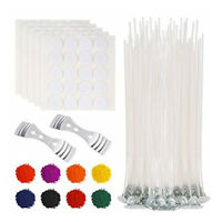 210 Pieces Candle Making Kit Supplies Wicks Sticker Wicks Holder Durable