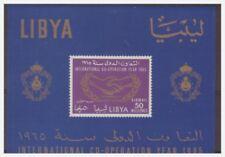 LIBIA INDIPENDENTE 1965 -  COOPERAZIONE  INT.  FOGLIETTO  ** 9/i