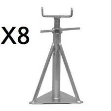 "8 X STATIC CARAVAN AXLE / SUPPORT STANDS 13""3/4 - 17.5""  (350mm-445mm) MEDIUM"