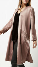River Island Pink Satin Embroidered Kimono Cover Up Coat size Small 10 Rrp £65