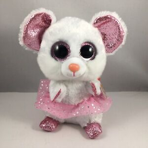 NEW 2021 TY Beanie Boos NINA the Mouse Stuffed Animal Toy Plush (6 Inches) MWMTs