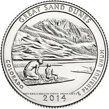 2014 Great Sand Dunes National Park Colorado Quarter San Francisco Mint ATB