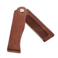 Wooden Folding Mens Beard Comb Styling Mustache Shaping Comb Pocket Size