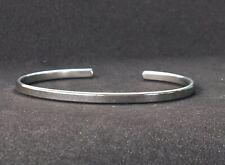 Blanks Metal Silver Stainless Steel Bracelet Cuff Bangle Open 3mm For Men Women