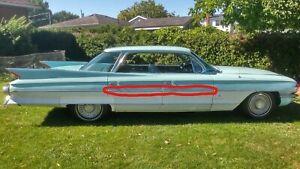 1961 Cadillac Door Trim Chrome 62 Series 4 Door Hardtop