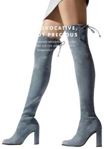 NIB Stuart Weitzman Hiline Over The Knee Thigh High Suede Boots