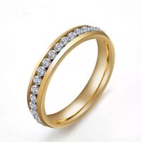 Men Women Silver Gold Stainless Steel Ring Band Titanium Wedding Engagement Ring