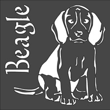 1- 8x8 inch Custom Cut Stencil, (VA-6) Beagle Dog