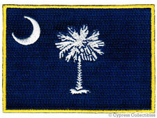 SOUTH CAROLINA STATE FLAG PATCH EMBROIDERED IRON-ON new APPLIQUE EMBLEM