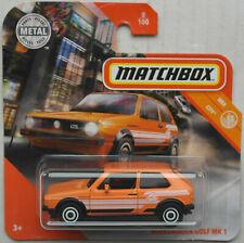 Matchbox VW Volkswagen Golf MK 1 orange Neu/OVP Auto Car PKW Mattel MBX City