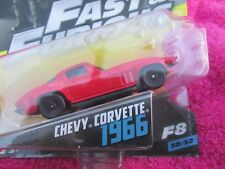 FAST AND FURIOUS CHEVY CORVETTE 1966 NEW ON CARD 1/55