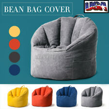 YuppieLife Adult Large Bean Bag Chair Sofa Couch Cover Indoor Home Lazy Lounger