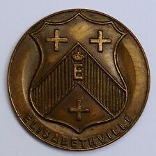 Congo Katanga medal médaille SIEL 1955 Syndicat d'initiative Elisabethville