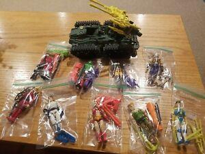 Vintage GI Joe Street Fighter Figure Lot!! 9 Figures and Sonic Boom Tank