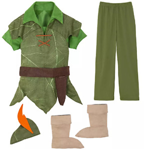 Authentic Disney Peter Pan Boys Kids Halloween Dress Up Costume Set Size 3 NEW