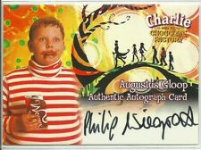 Charlie and Chocolate Factory Philip Wiegratz Augustus Gloop autograph Card #386