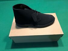 Clarks Men's Desert Black Suade Desert Boot Shoes 9 1/2 Medium (D)