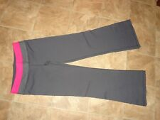 """Women's Kickland Athletic Gray/Pink Pants Size Small Short Inseam 29"""""""