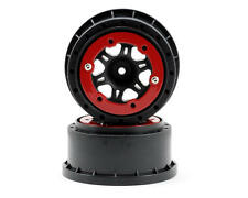 Pro-Line Split Six Bead-Loc Short Course Rear Wheels (Black/Red) (2) 2715-04
