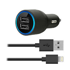 New 2-port USB Car Charger & BelkinLightning Cable for iphone5/ 5S/ iPod/Ipad