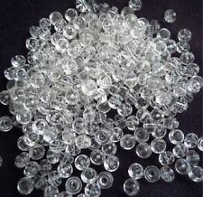 260 Böhmische Glasperlen Transparent 5 x 3,5 mm  #  159