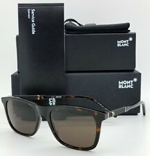 2b7cd4d1b5b New Mont Blanc sunglasses MB606S 52E Tortoise Brown Classic AUTHENTIC MB606
