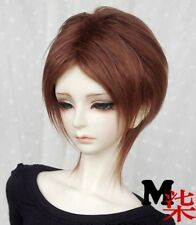"7-8"" 18-19cm BJD Fabric Fur Wig Brown For 1/4 BJD Doll MSD DOC DZ LUTS"
