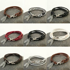 Artificial Leather Cord Women Surfer Mens Ladies Bracelet Wristband Jewelry