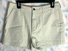 Patagonia Women's 10 Stand Up Shorts Beige Pelican Low Rise Organic Cotton NWT