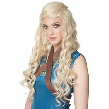 Daenerys Targaryen Wig Medieval Renaissance Costume Halloween Fancy Dress