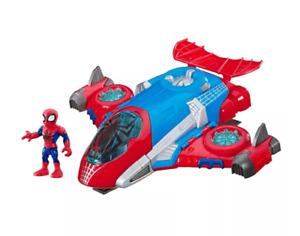 NIB Hasbro Marvel Super Hero Adventures Spider-Man Spider man Jetquarters