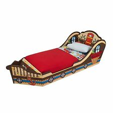 Pirate Bed Boys Kids Wood Ship Boat Artwork Storage Toddler Transition Bedding