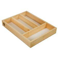De Cocina de madera cubiertos utensilio CAJÓN ALMACENAMIENTO CAJA Bandeja Organizador Y Base Blanca