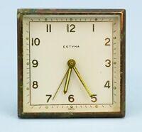 ESTYMA Travel Alarm Clock Vintage Art Deco for Spares Repair Retro Swiss