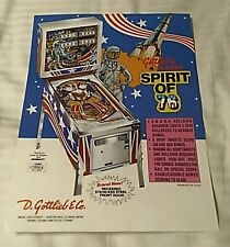 1976 Gottlieb Pioneer New York pinball super kit Spirit of 76