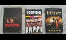 Quentin Tarantino movies 3 Dvds Lot Pulp Fiction, Reservoir Dogs, Jet Li Hero