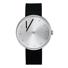 "Projects Watches ""Twirler Steel"" Acier Quartz Argent Noir Silicon Homme Montre"