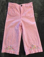 GIRLS DORA the EXPLORER PANTS by NICKELODEON size 6X ~ PINK & WHITE CHECK ~ NEW