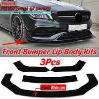 Weiß Front Spoiler Lippe Ansatz Stoßstange für Mercedes W211 W212 W213 W204 W205