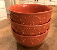 Set of 3  - Food Network Fontinella Coral Embossed Design Cereal Soup Bowls