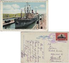 """Panama 1924, mehrfarb. AK """"S.S. Christobal ..."""" gelaufen nach Deutschland"""
