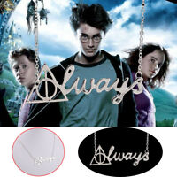 HARRY POTTER Deathly Hallows Inspired ALWAYS Silver Necklace Pendant Jewelry HOT