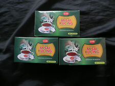 3 Boxes (75 Bags) Herbal Misai Kucing Tea Diabetes,High Blood Pressure,Gout