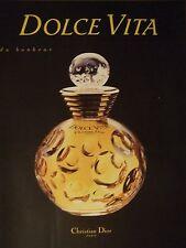 PUBLICITÉ 1994 DOLCE VITA DU BONHEUR CHRISTIAN DIOR - ADVERTISING