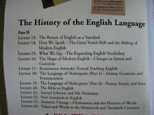 Great Courses The History of the English Language-4 DVDs 2 books Parts II - III